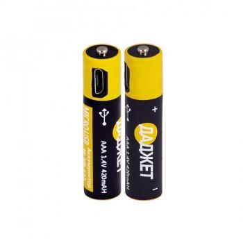 USB-батарейки AAA NiMh 2шт.